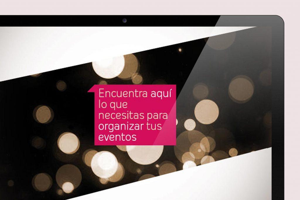 diseño logo, gráfico y maquetación blog eventos