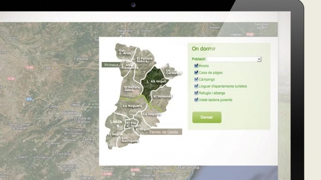 maquetación web Patronato de Turismo de Lleida. Aralleida