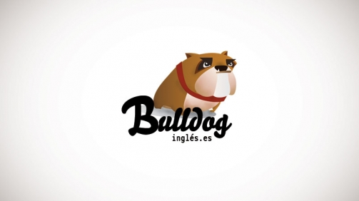 ilustración digital bull dog inglés